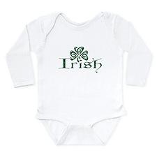 Irish: Celtic Shamrock Long Sleeve Infant Bodysuit