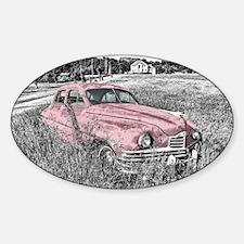 vintage pink car Decal