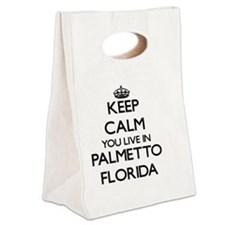 Keep calm you live in Palmetto F Canvas Lunch Tote