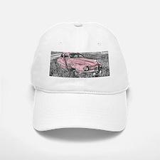 vintage pink car Baseball Baseball Cap