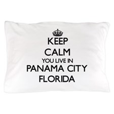 Keep calm you live in Panama City Flor Pillow Case