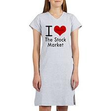 I Love the Stock Market Women's Nightshirt