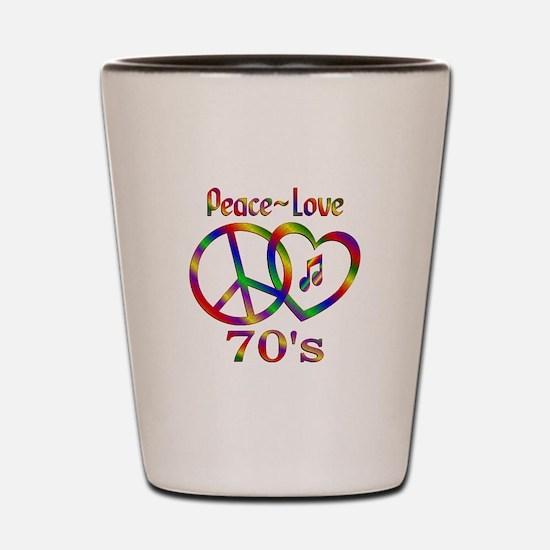 Peace Love 70s Shot Glass