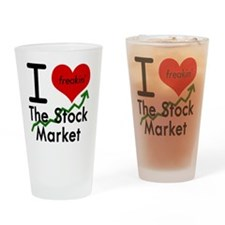 I love the Stock Market Drinking Glass