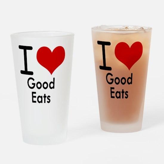 Good Eats Drinking Glass