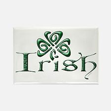 Irish: Celtic Shamrock' Rectangle Magnet