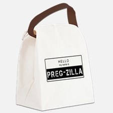 Cute Hello my name Canvas Lunch Bag