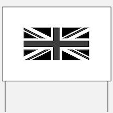 Union Jack - Black and White Yard Sign