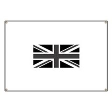 Union Jack - Black and White Banner