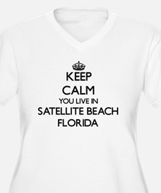 Keep calm you live in Satellite Plus Size T-Shirt