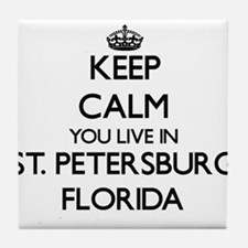 Keep calm you live in St. Petersburg Tile Coaster
