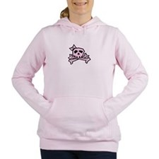Pinkie the Pink Skull Women's Hooded Sweatshirt