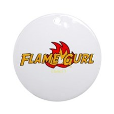 Flame Gurl Ornament (Round)