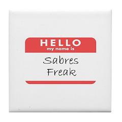 Sabres Freaks Tile Coaster