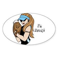 Softball Girl Decal