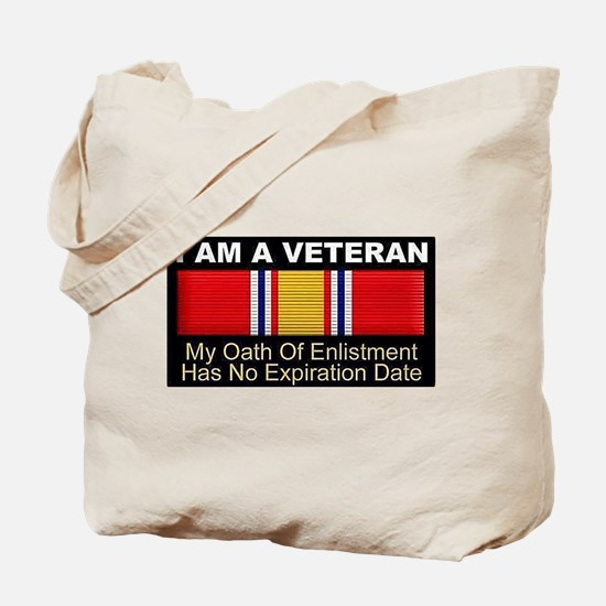 I Am A Veteran Tote Bag
