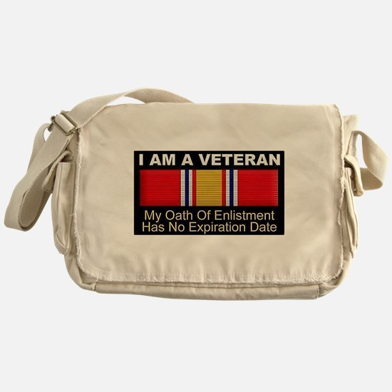 I Am A Veteran Messenger Bag