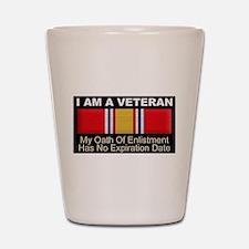 I Am A Veteran Shot Glass