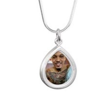 August Alsina Silver Teardrop Necklace