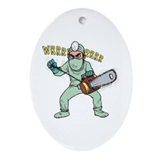 surgery humor Oval Ornament