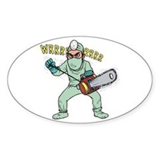 surgery humor Oval Decal
