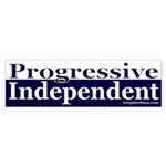 Progressive Independent Bumper Sticker