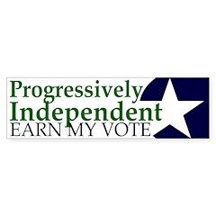 Progressively Independent Green (Bumper Sticker