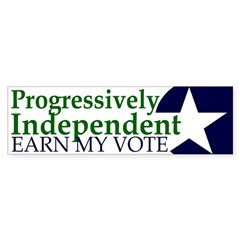 Progressively Independent Green (Bumper Sticker