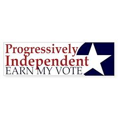 Progressively Independent Bumper Sticker