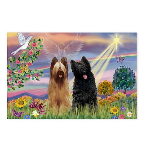 Cloud Angel & Briard Pair Postcards (Package of 8)