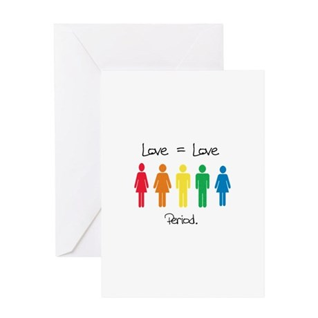LoveEqualsLove Greeting Cards