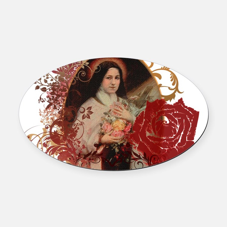 St. Therese Oval Car Magnet