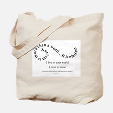 Autism ~ Two worlds Tote Bag