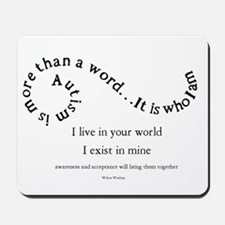 Autism ~ Two worlds Mousepad