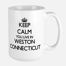 Keep calm you live in Weston Connecticut Mugs