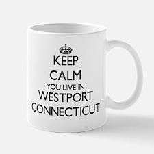 Keep calm you live in Westport Connecticut Mugs