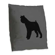 Belgian Sheepdog Burlap Throw Pillow