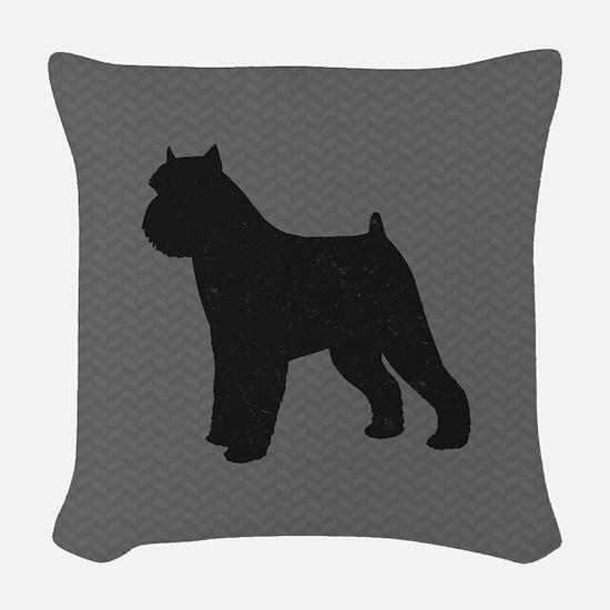 Brussels Griffon Woven Throw Pillow