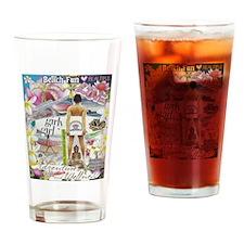 Cute Girlpower Drinking Glass