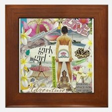 Cute Girlpower Framed Tile