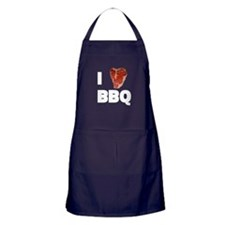 I Love Bbq Cooking And Bbq Apron (dark)