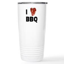I Love Bbq Travel Mug