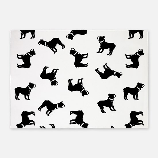 Boston Terriers 5'x7'Area Rug