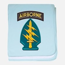 US Army Special Forces Airborne Insig baby blanket
