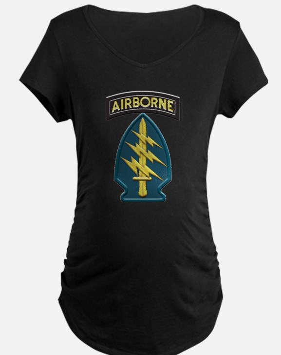 US Army Special Forces Airborne Maternity T-Shirt