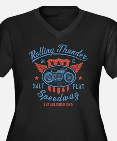 Rolling Thunder Vintage Motorcyc Plus Size T-Shirt