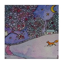 Wandering Fox Tile Coaster
