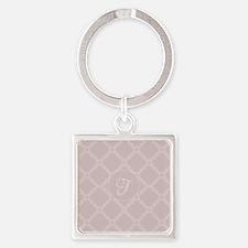 Custom Retro Pastel Pink Dots Pattern Keychains