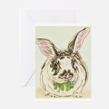 Black and White Rabbit Greeting Cards