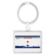 Texas - 2000 blank license plate graphic Keychains